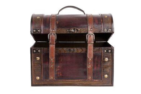 Ajar vintage bag brown color on a white background Stock Photo - 17311040