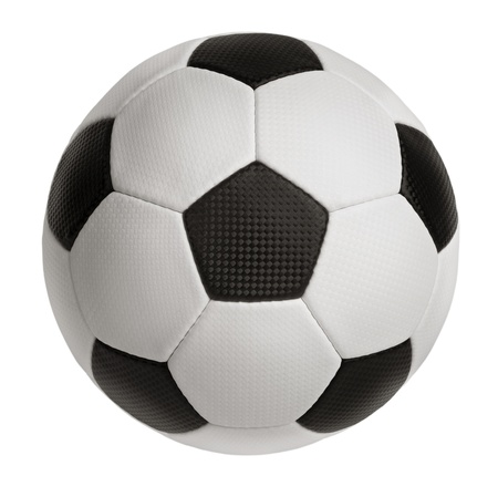 resilient: Inflated ball for football on a white background Stock Photo