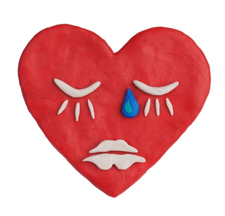 Red plasticine heart depicting a deep sleep