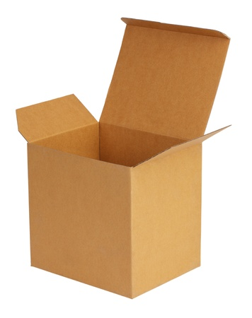 carboard box: Large carboard box on a white background