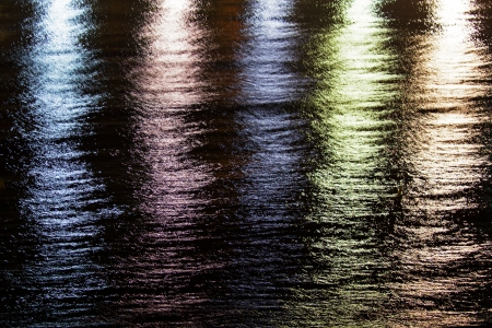 undulatory: Multi-colored reflections of light reflected on the water Stock Photo
