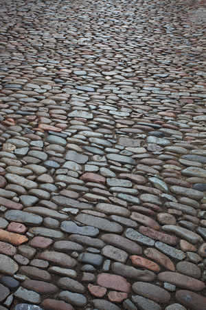 lithic: City street paved with a coarse stone