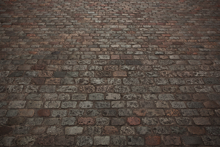 firmness: Camino empedrado de piedra en la antigua ciudad Foto de archivo