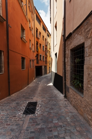 Colorful houses on the old narrow street Stock Photo - 23069753