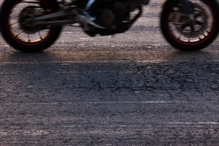 Rapidly traveling along the asphalt road bike photo