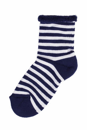 gaiters: Dark blue knitted socks with white stripes