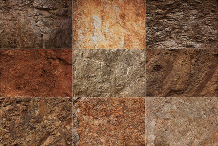 Stone surfaces of different colors and textures Stock Photo - 26141875
