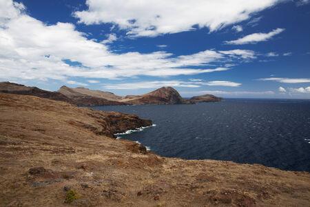 High mountain range along the Atlantic coast photo
