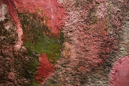 dyeing: Background of old plaster wall with mold