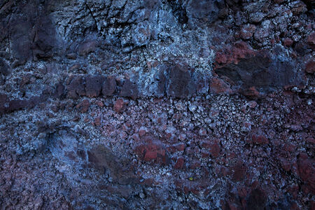 Detail of old moldy crumbling stone surface Stock Photo