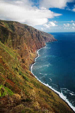 eminence: Receding into the distance rocky  Atlantic ocean coast Stock Photo
