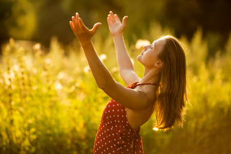 beatitude: Happy woman in a state of bliss