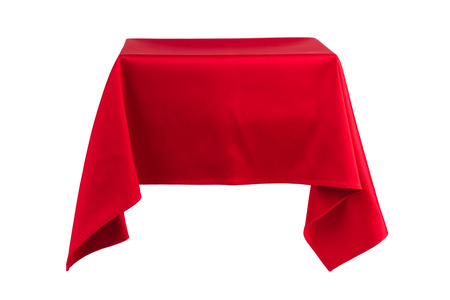 fabric: Something hanging in the air covered with red cloth