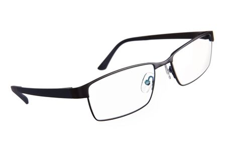 diopter: Stylish glasses in thin frame on a white background