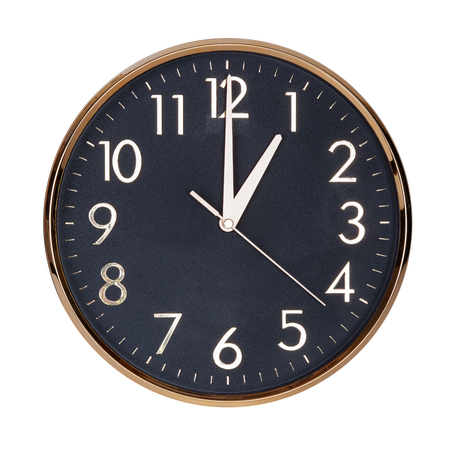 12 hour: Exactly one hour on the round clock face