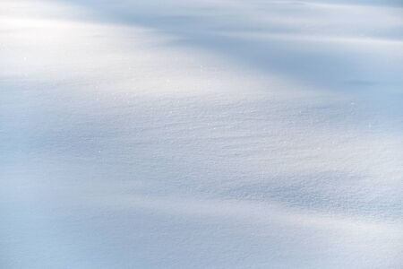 Detail of a white snowdrift cold winter Stock Photo