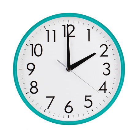time clock: Exactly two hours on a round dial Stock Photo