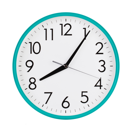 ninth: Clock shows five minutes of the ninth