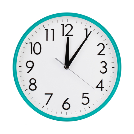 12 hour: Beginning of the first on the round  dial Stock Photo