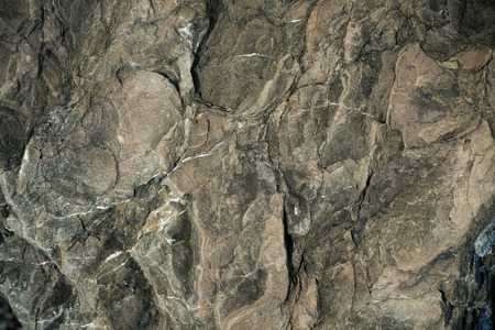 hardwearing: Brown stone with protuberances on the surface