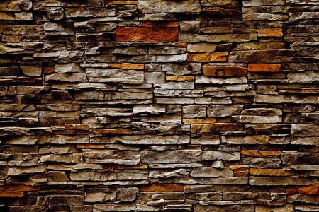 firmeza: Pared de ladrillo vieja de una piedra plana Foto de archivo