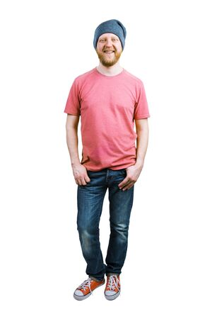 bloke: Funny guy in jeans and a T-shirt Stock Photo