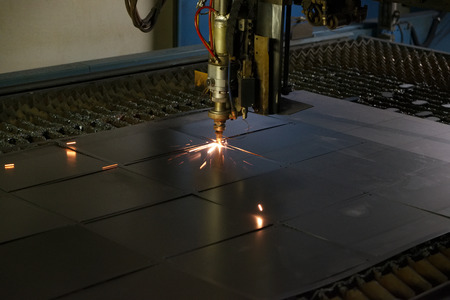 automatic machine: Welding automatic machine connects the square metal parts
