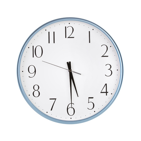 12 hour: Half past five oclock on the dial