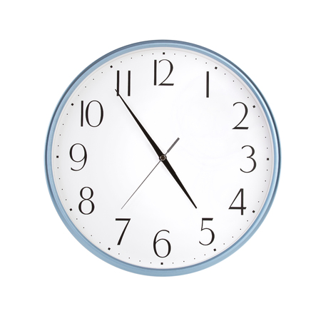 large office: Large office round clock shows almost five hours