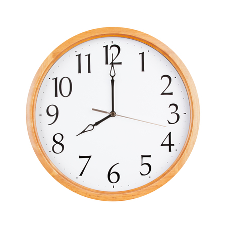 12 hour: Eight oclock on a large round dial Stock Photo