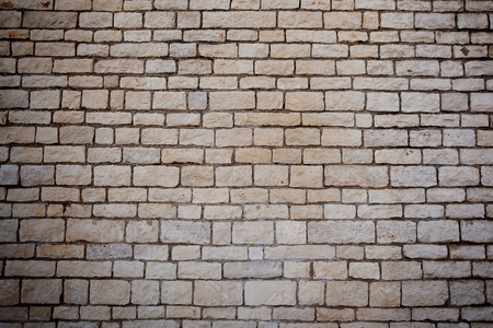 firmness: Wall of the building, built of white brick