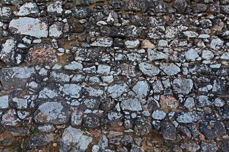Background in the form of a brickwork from different stones