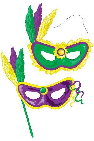 マルディグラのマスク。人 dat ですか?