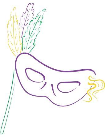 カラフルなマルディグラ マスク