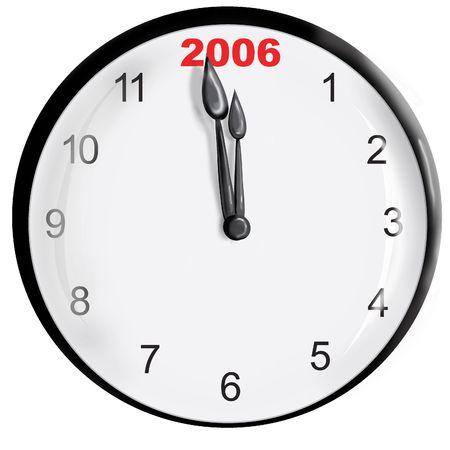 新しい年の時計します。