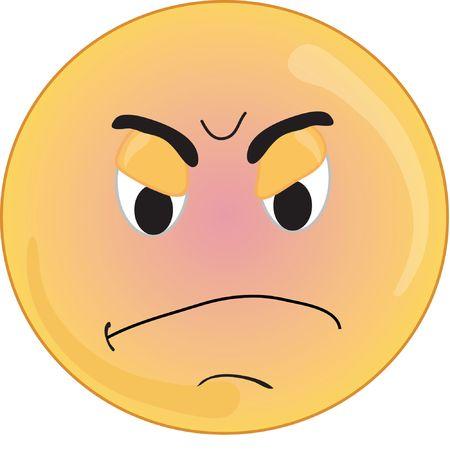 スマイリー タイプの怒った顔