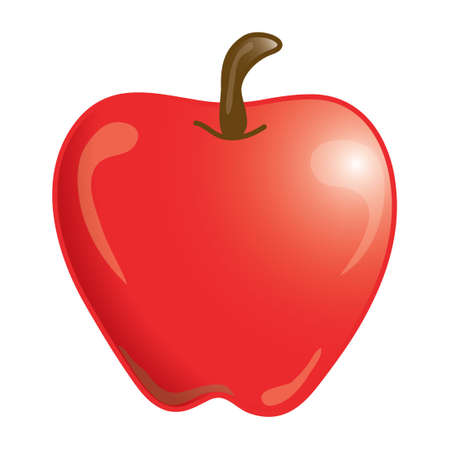 educating: Stylized icon of an apple (File 5 of 20 in this series) Stock Photo