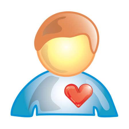 心臓患者 (このシリーズの 20 のファイル 15) の様式化されたアイコン 写真素材