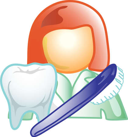Illustration of a dentist icon, that can be used as a symbol, bullet, button or design element.