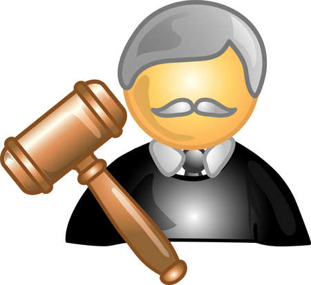 arbitrator: Illustration of a judge icon, that can be used as a symbol, bullet, button or design element.