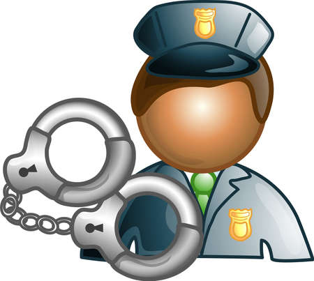 security icon: Illustration of a police icon, that can be used as a symbol, bullet, button or design element.