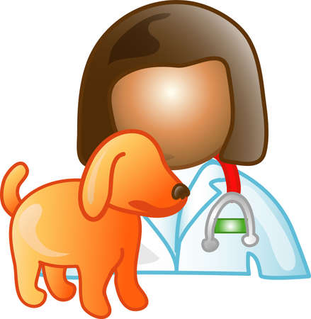 dr: Illustration of a vet icon, that can be used as a symbol, bullet, button or design element.