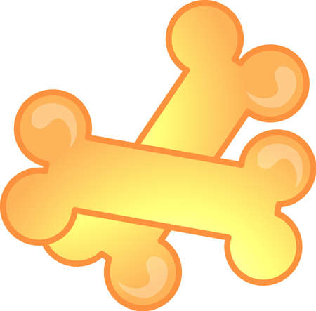 dog treat: Illustration of a dog bones icon, that can be used as a symbol, bullet, button or design element.