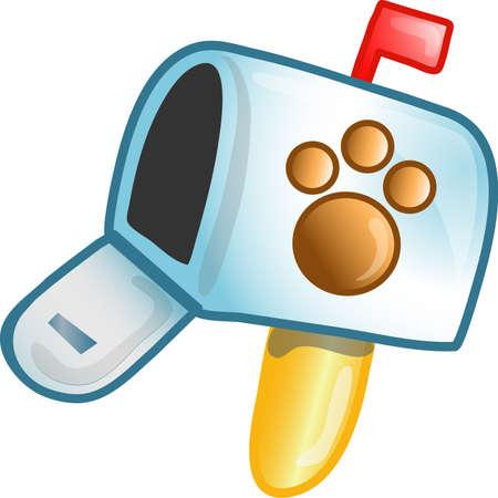 イラスト、獣医メールボックス アイコン、記号、箇条書き、ボタン、またはデザイン要素として使用することができます。