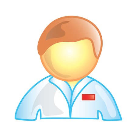 Stylized icon of a male nurse (File 2 of 20 in this series)