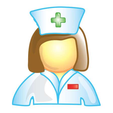 女性看護師 (このシリーズでは 20 の 1 ファイル) の様式化されたアイコン