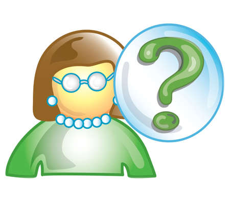 Stylized icon of a teacher with a question mark (File 20 of 20 in this series)