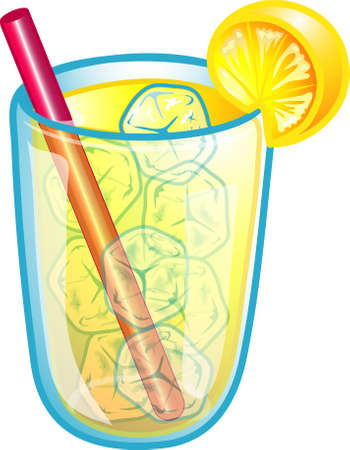 Illustration of a ice cold lemonade Stock Illustration - 2619080
