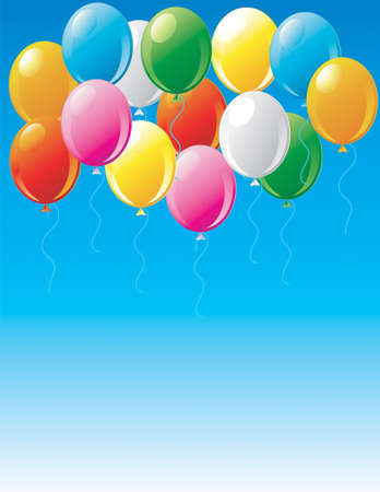 Illustration of party balloons in the sky Stock Illustration - 2666755