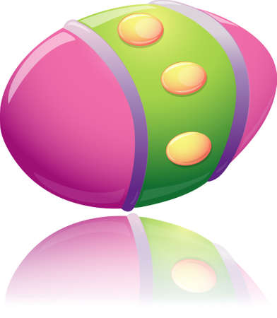 Illustration of a decorated easter egg.
